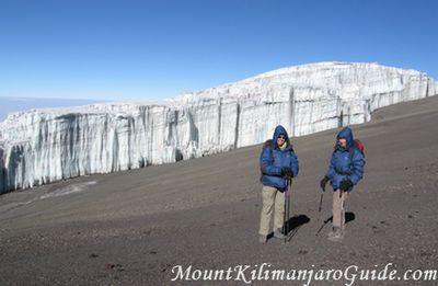 Climbing Mount Kilimanjaro, crater rim