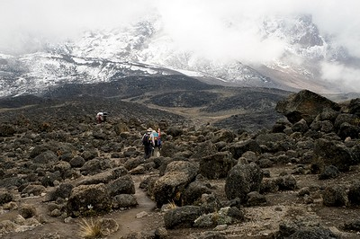 Approaching the Lava Tower on the Machame Route, Kilimanjaro