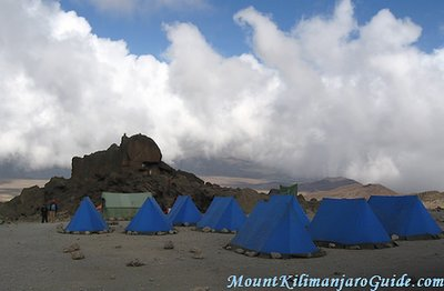 Camp at Kibo Huts, Kilimanjaro, Rongai Route