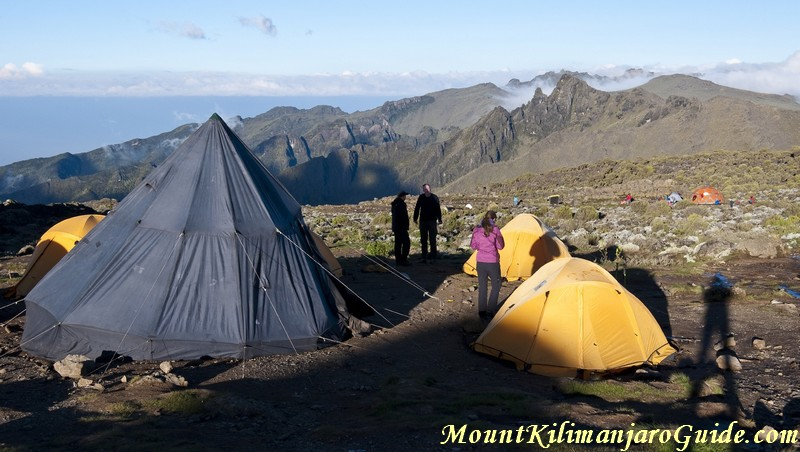 Camping on the Machame Route