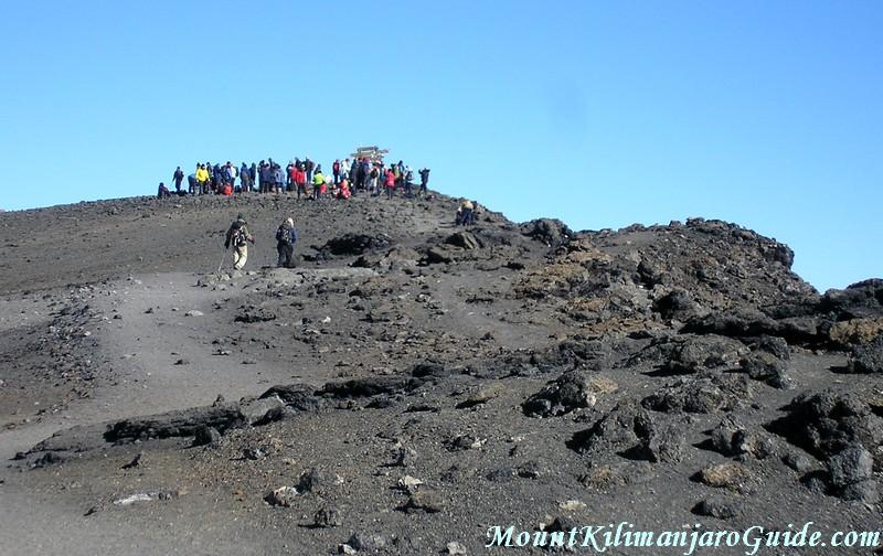 Approaching Uhuru Peak