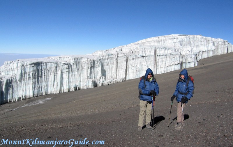 On the crater rim of Mount Kilimanjaro