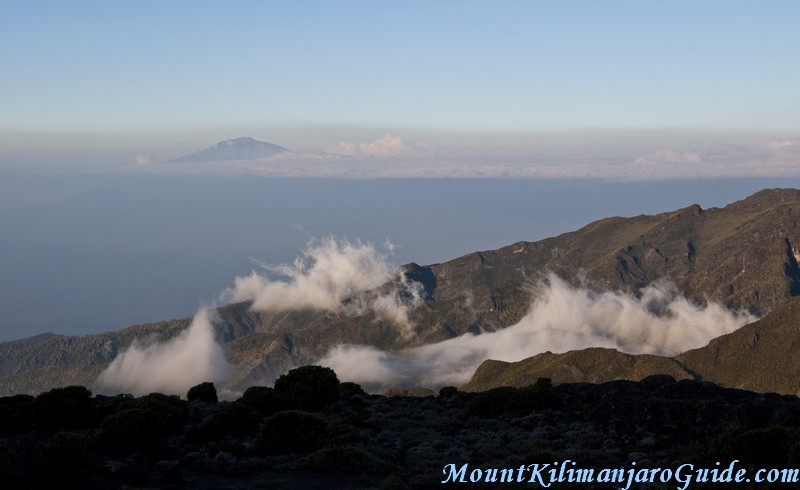 Mount Meru see from Shira Plateau