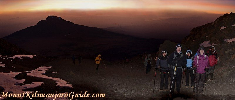 Dawn on summit day, Machame Route