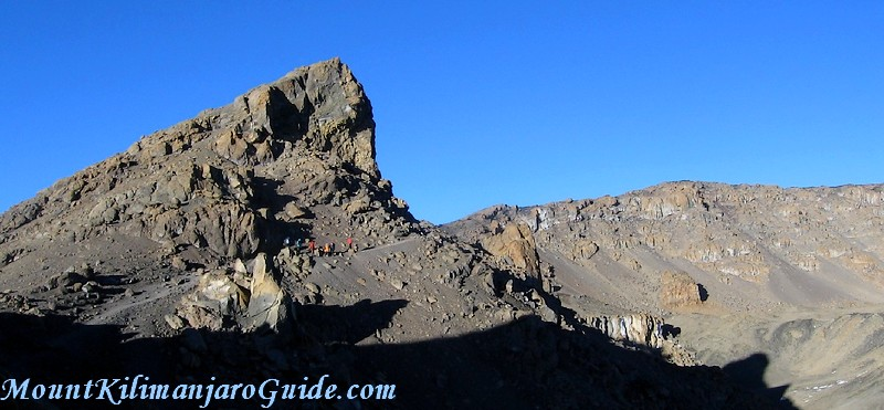 Kilimanjaro crater rim between Gilman's Point and Stella Point