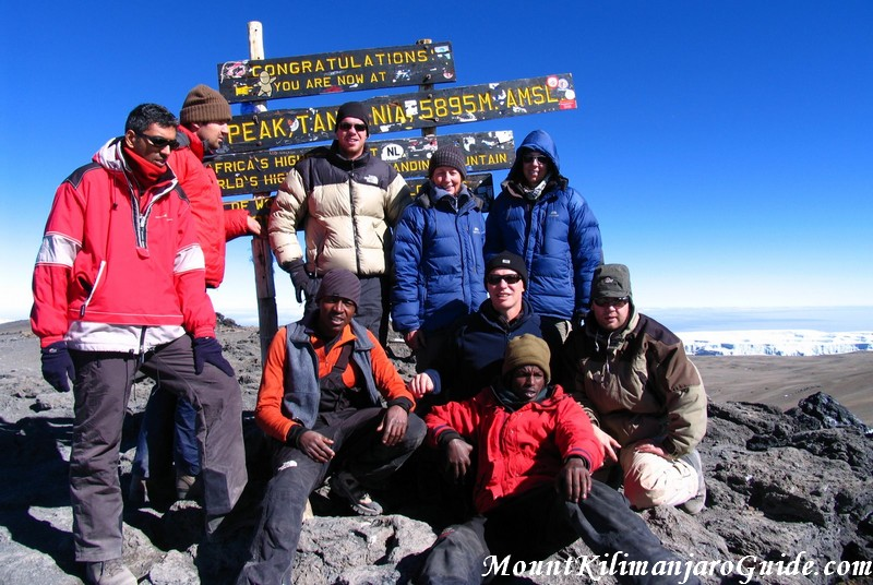 Reaching the summit of Kilimanjaro