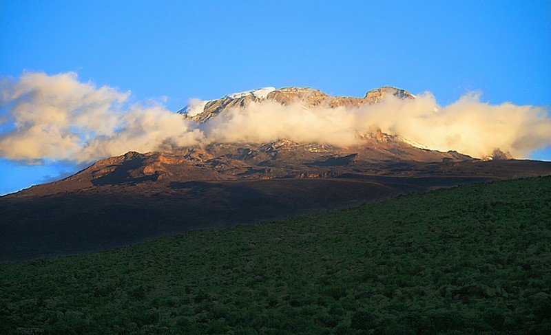 Kibo seen from Shira Plateau