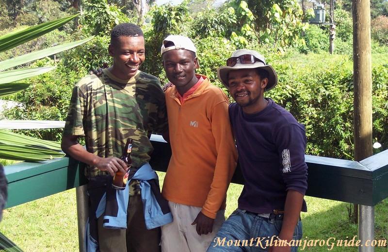 Three Kilimanjaro Guides