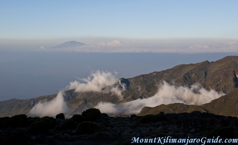 Mount Meru see from Shira Plateau