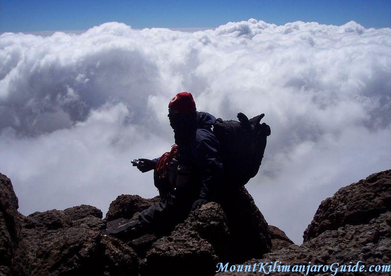Looking down from Kilimajaro