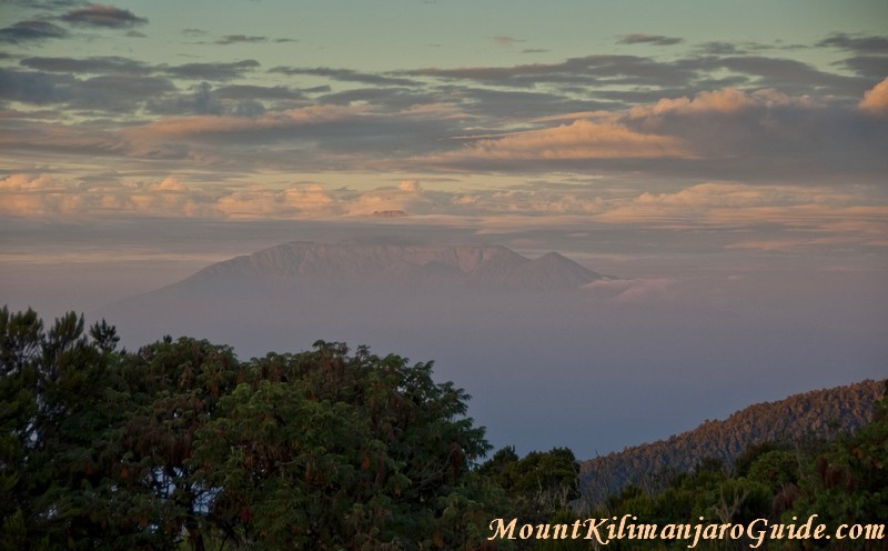 Mount Meru viewed from Mount Kilimanjaro