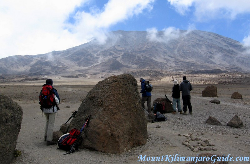 Rest point before reaching the Kibo Huts