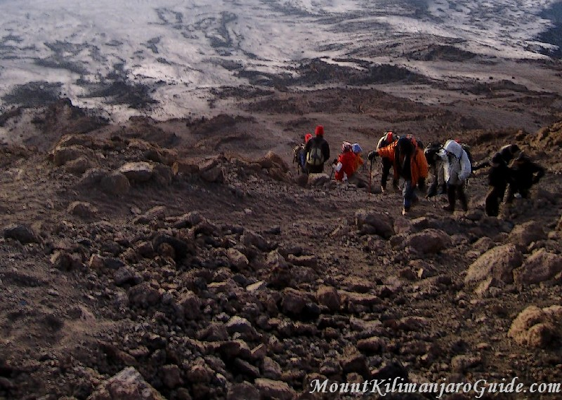 The last part of the Kilimanjaro summit path