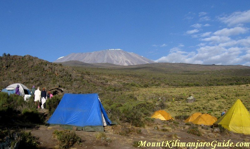 Early morning view of Kilimanjaro from Kikelewa Caves Camp